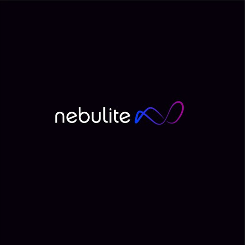 Neon logo with the title 'Nebulite Logo'
