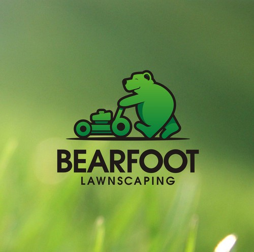 """Grass design with the title 'Design a memorable logo with a play on """"Bearfoot""""'"""