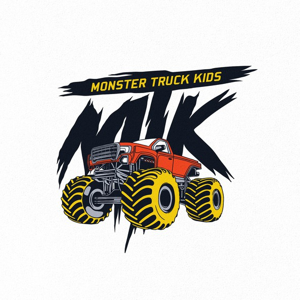 Monster logo with the title 'Monster Truck Kids'