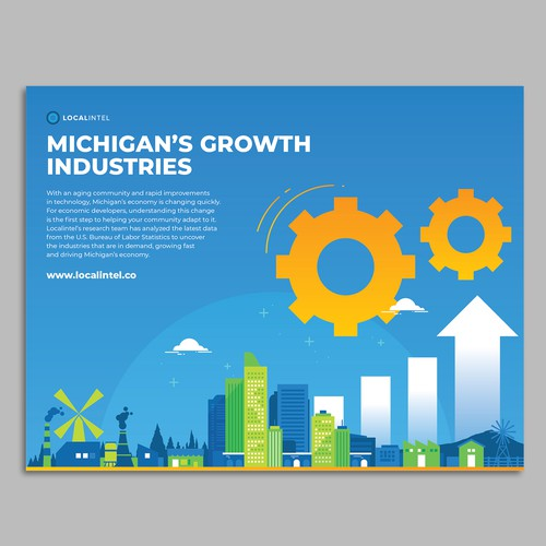 Chart design with the title 'Infographic brochure for localintel'