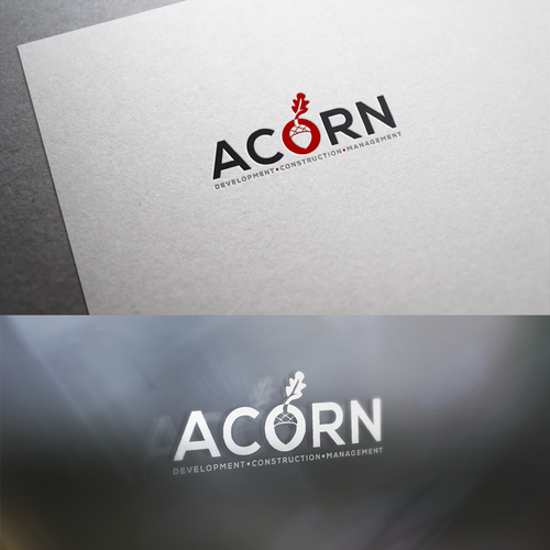 Acorn logo with the title 'Acorn logo'