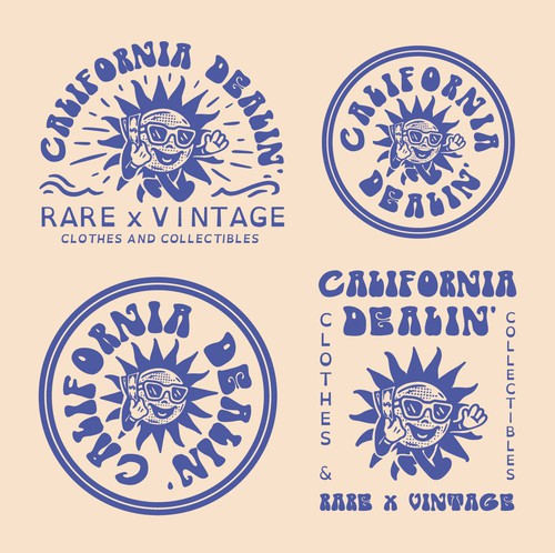 Badge logo with the title 'CALIFORNIA DREAMIN' ☀'