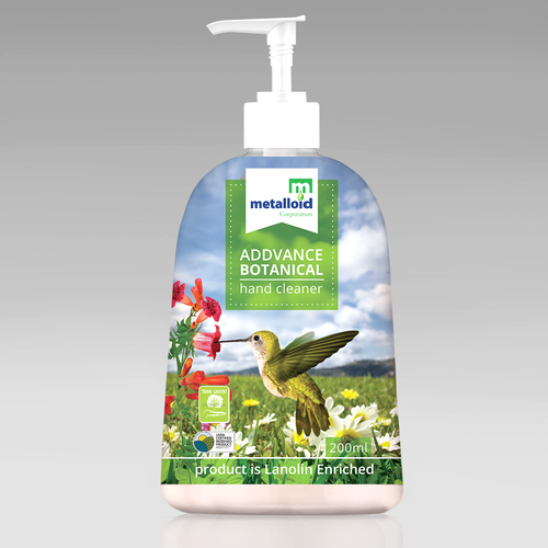 Chemistry design with the title 'Addvance Botanical Soap label'