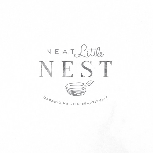 Kiss design with the title 'Neat Little Nest looking for refined, beautiful design'