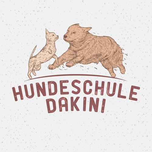 Labrador logo with the title 'HUNDESCHULE DAKINI'