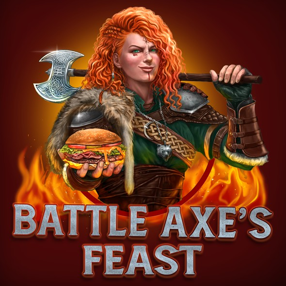 Viking logo with the title 'Battle Axe's Logo'