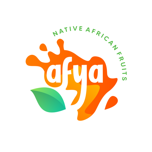 Orange brand with the title 'Afya - Native African Fruits'