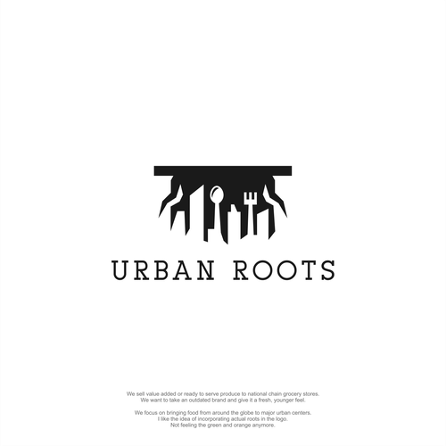 Fork logo with the title 'Major Re-branding: Urban Roots'