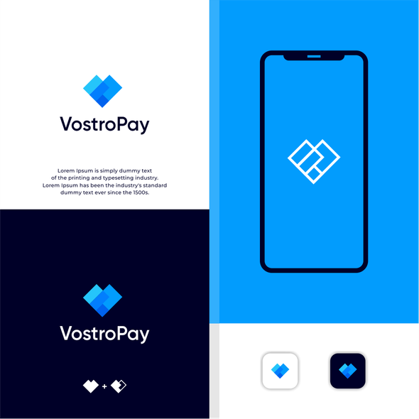 Payments logo with the title 'V+P Overlapping'