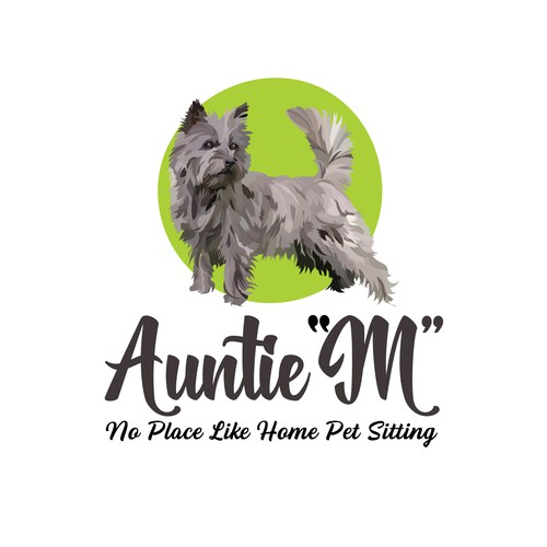 Pet sitting logo with the title 'Logo for Pet Sitting Business'