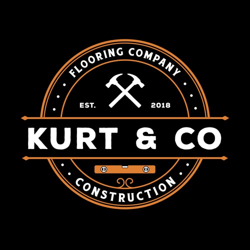 Hammer design with the title 'Kurt & Co Construction'