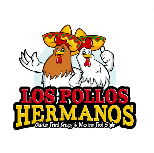 Chicken logo with the title 'Logo for a Mexican restaurant'
