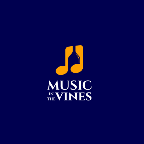 Music production logo with the title 'MUSIC IN THE VINES'