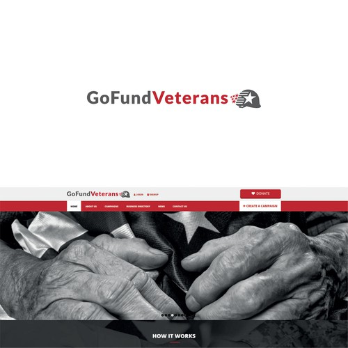Nonprofit brand with the title 'Logo concept for a team that helps veterans and military families'