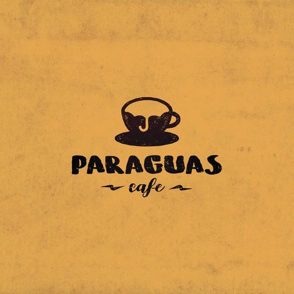 Umbrella logo with the title 'Paraguas Cafe'