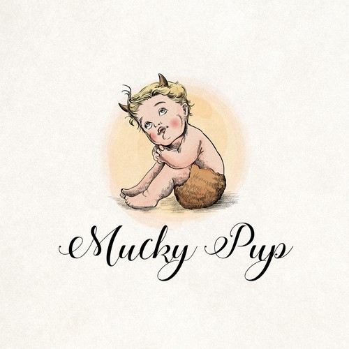 Baby clothing logo with the title 'Online trade for baby products'