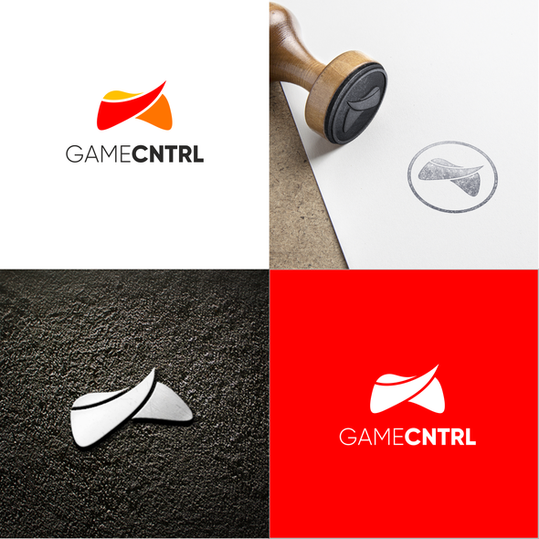 Game controller logo with the title 'Game cntrl logo'