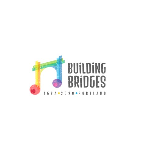 Gay logo with the title 'Building bridges'