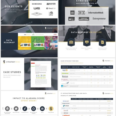 Professional & Elegant concept for Technology & Strategy Company