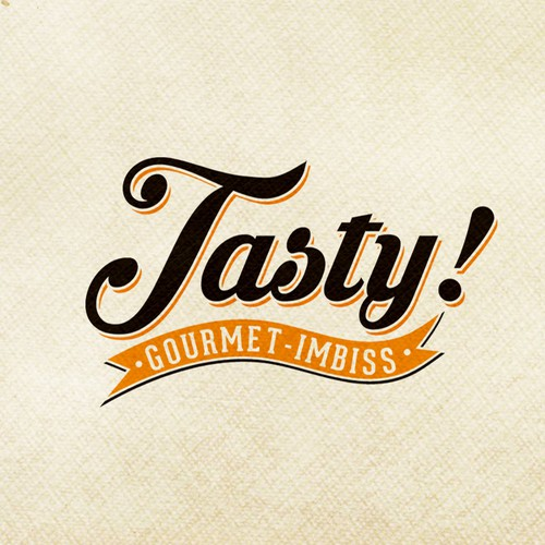 Tasty logo with the title 'Logo design for take away restaurant '