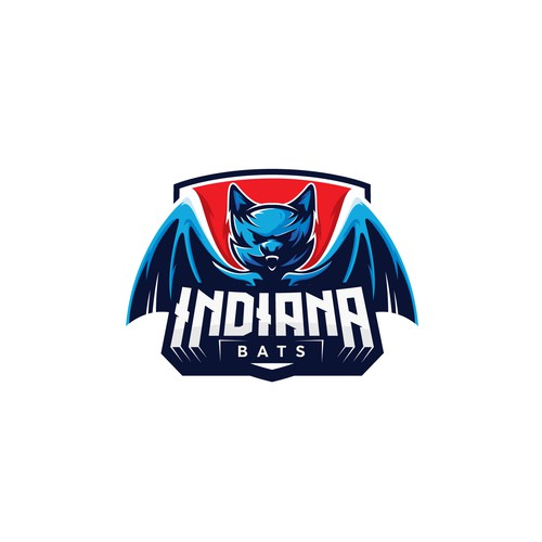 Bat logo with the title 'indiana bats'