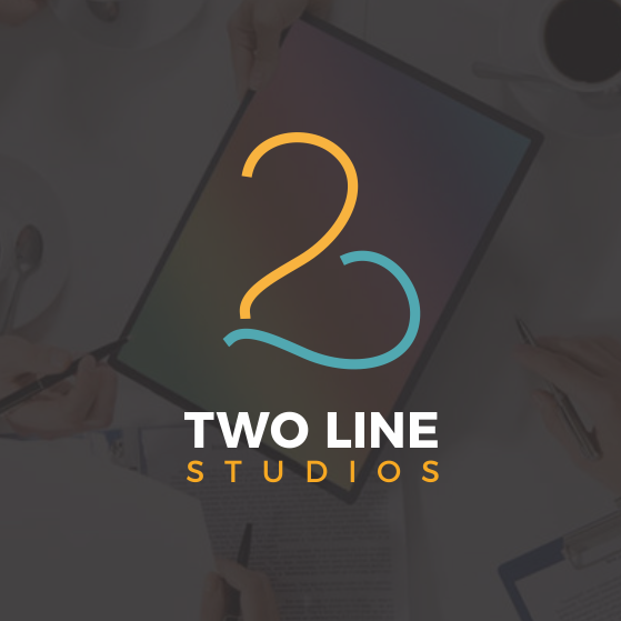 Two design with the title 'two line'