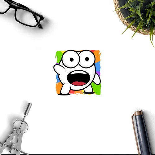 Painter logo with the title 'Amazed Mascot'