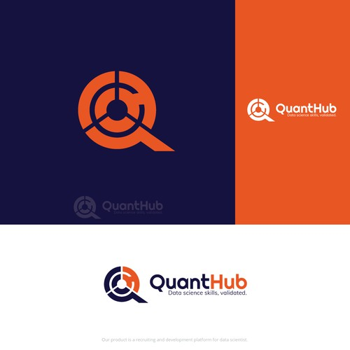 Science brand with the title 'Creative logo for Data Science Company'