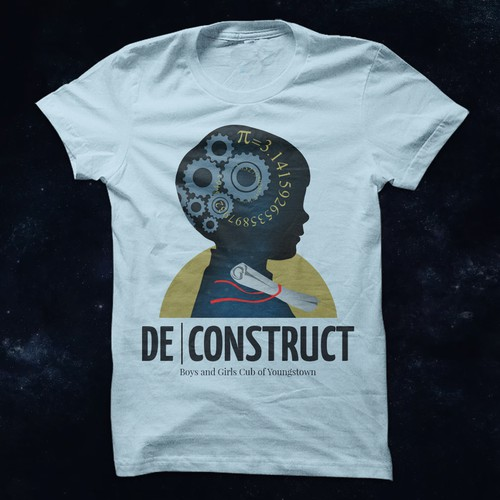 Club t-shirt with the title 'De Construct'