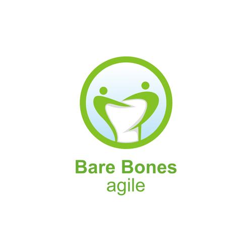 Bone logo with the title 'BARE BONES AGILE LOGO'
