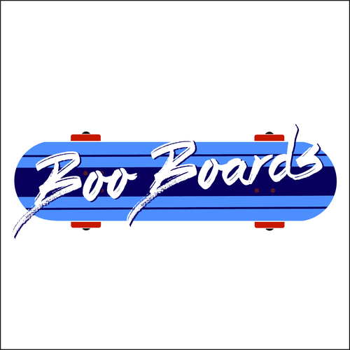 Skating logo with the title 'Fun Logo for Skateboarding Meet-up'