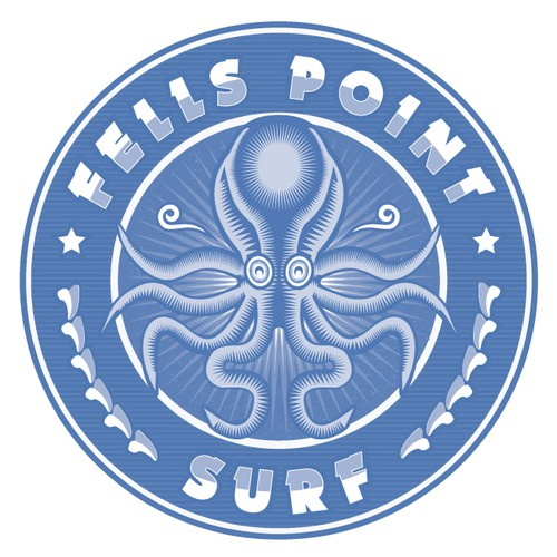 Marine logo with the title 'Fells Point Surf Logo'