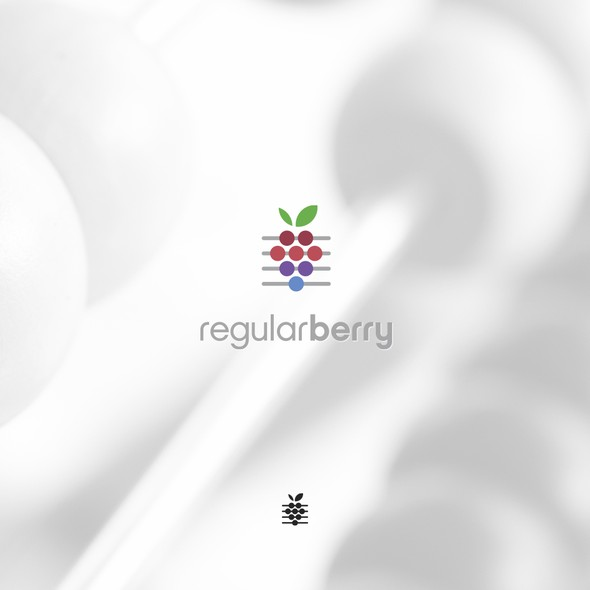 Berry logo with the title 'Creative berry logo for math based apps'