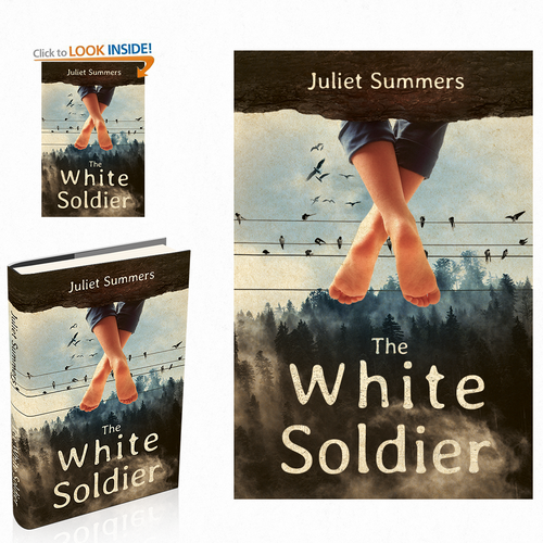 Eye-catching design with the title 'The White Soldier'