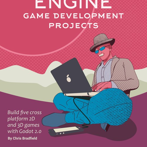 Vibrant artwork with the title 'Programming Book Cover concept'