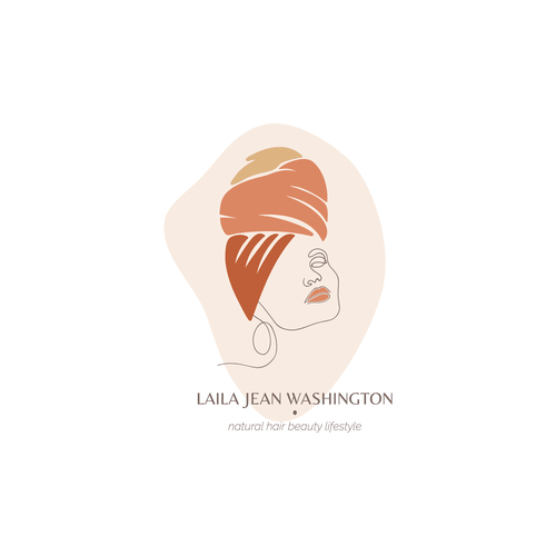 Hairstyle logo with the title 'Logo for Hair Beauty Influencer'