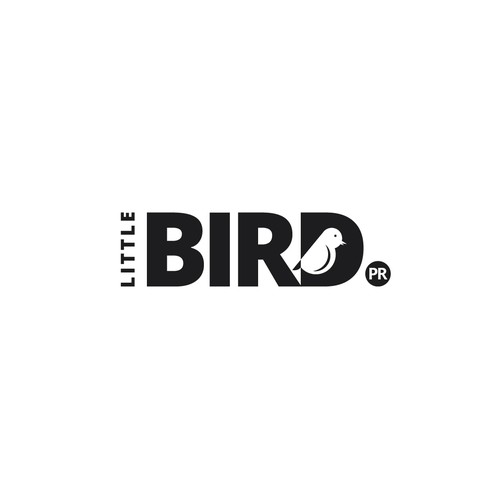 Bird logo with the title 'Logo for Little Bird PR'