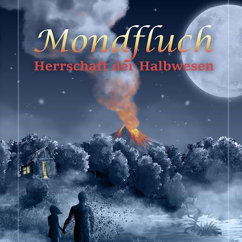 Hut design with the title 'Dark Fantasy Book Cover'