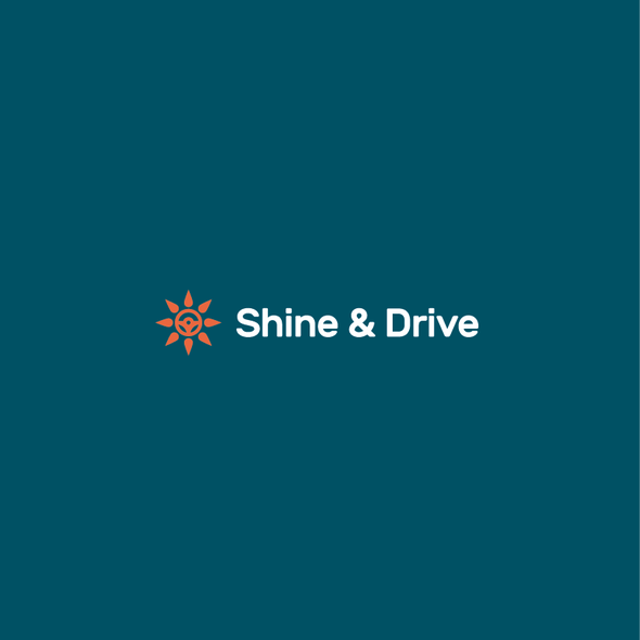 Steering wheel design with the title 'Shine & Drive Logo'
