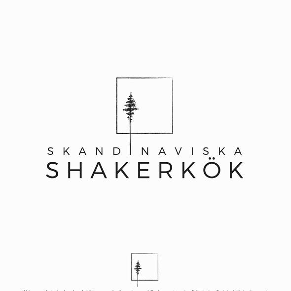 Pine tree design with the title 'Logo for premium handmade kitchen brand'