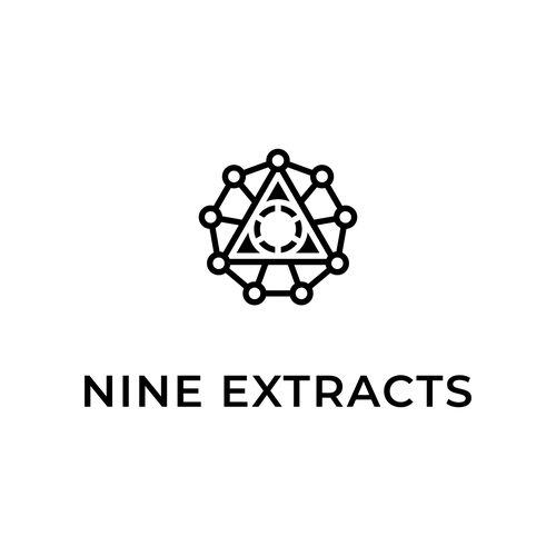 Geometric logo with the title 'Nine extracts'