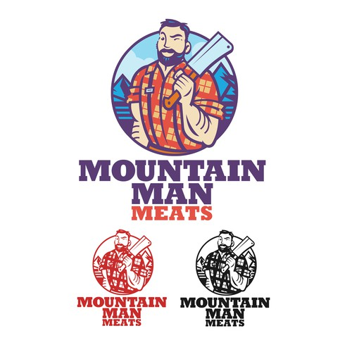 Culinary logo with the title 'Mountain Man Meats'
