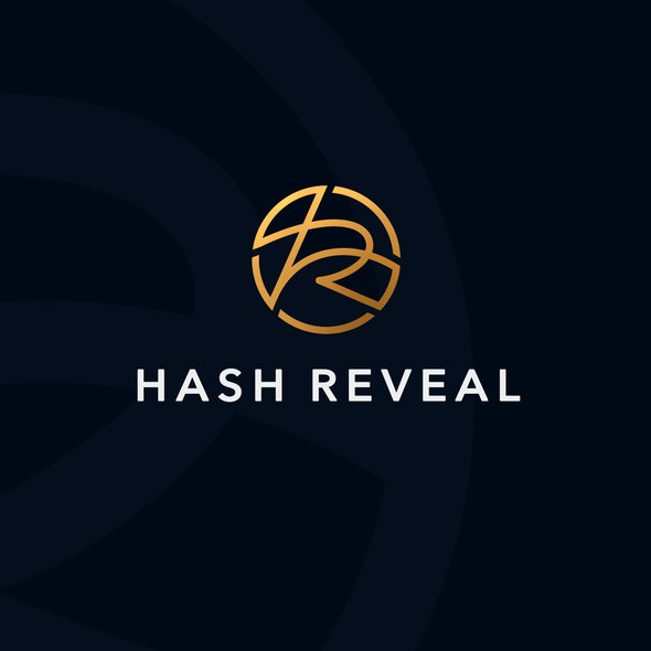 Digital logo with the title '«Hash Reveal» logo'