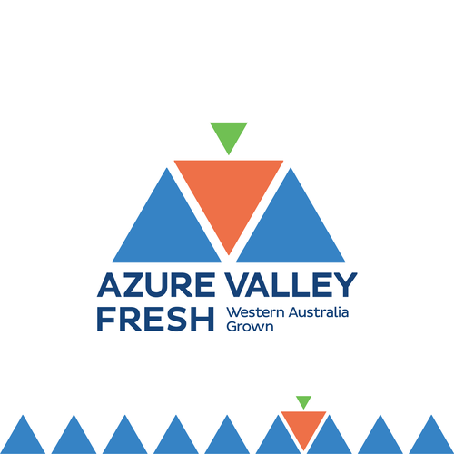 Geometric logo with the title 'Azure Valley Fresh'