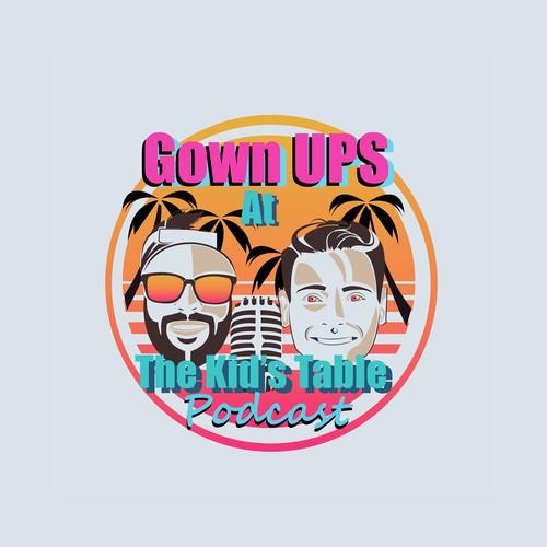 Miami logo with the title 'miami podcast logo'