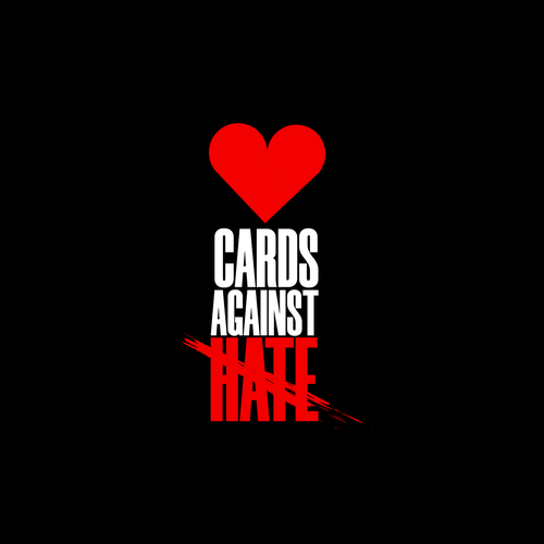 Card game logo with the title 'CARDS AGAINST HATE'