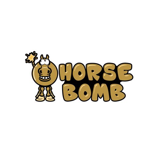 Bomb logo with the title 'Horse Bomb'