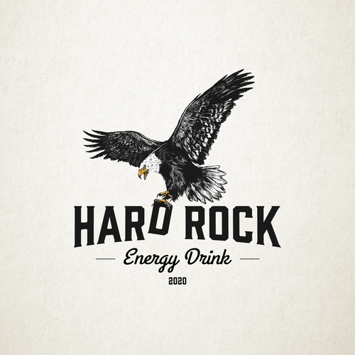 Claw design with the title 'Hard Rock'