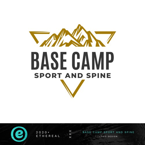 Athlete logo with the title 'Base Camp Sport and Spine'
