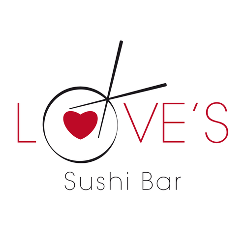 Sushi bar design with the title 'Logo Sushi Bar'